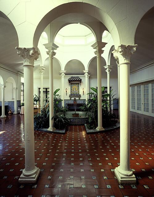 Patio in the Henderson House, built in 1923, the residence of the Ambassador of Spain in Washington, D.C.