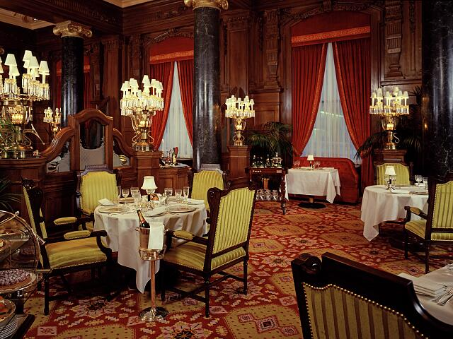 Historic view of the Willard Room Restaurant located in the Willard Hotel, Washington, D.C.
