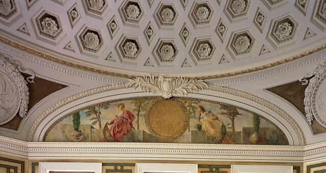 Mural detail in the Thomas Jefferson Building, Library of Congress, Washington, D.C.