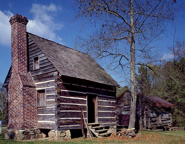 Out buildings at the Latta Plantation in Huntersville, North Carolina