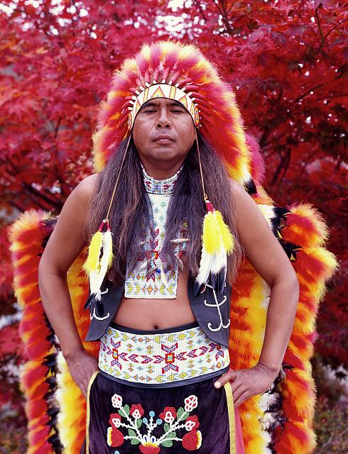 Dennis Wolfe, a full-blooded Cherokee indian in Cherokee, North Carolina
