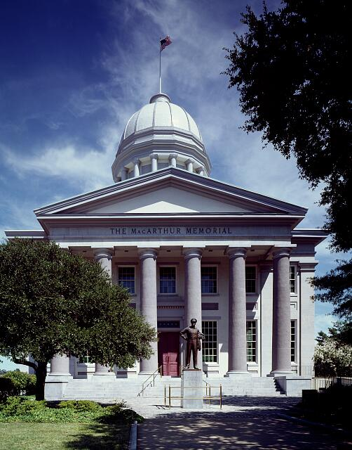 The McArthur Memorial is housed in the city's nineteenth-century City Hall in Roanoke, Virginia