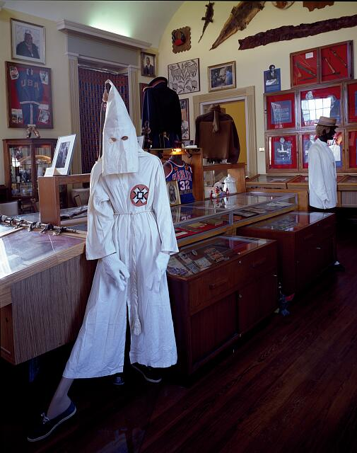 A Ku Klux Klan mannequin in the Black Archives in Tallahassee, Florida