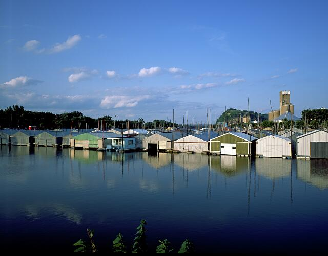 St. Croix river boat houses in Minnesota