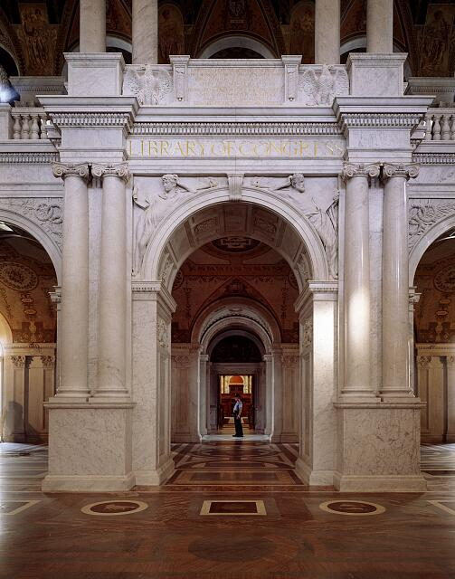 Archway to the Main Reading room within the Library of Congress's Thomas Jefferson Building, Washington, D.C.