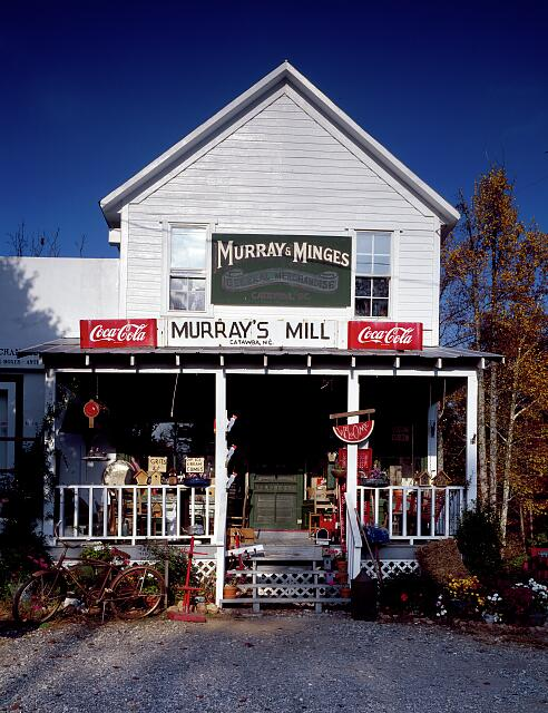 Murray-Minges's Mercantile, near a historic gristmill in Catawba County, North Carolina