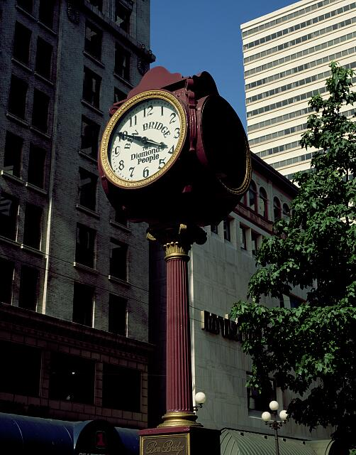 "One of what were 55 street clocks in Seattle, Washington, which was known as the ""City of Clocks"""