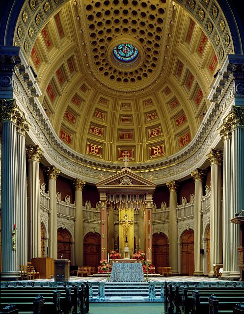 Sanctuary of St. Ignatius Church on the campus of the University of San Francisco, San Francisco, California
