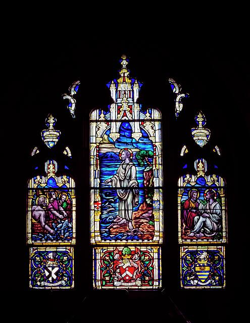 Stained-glass window, taken in a church in Florida