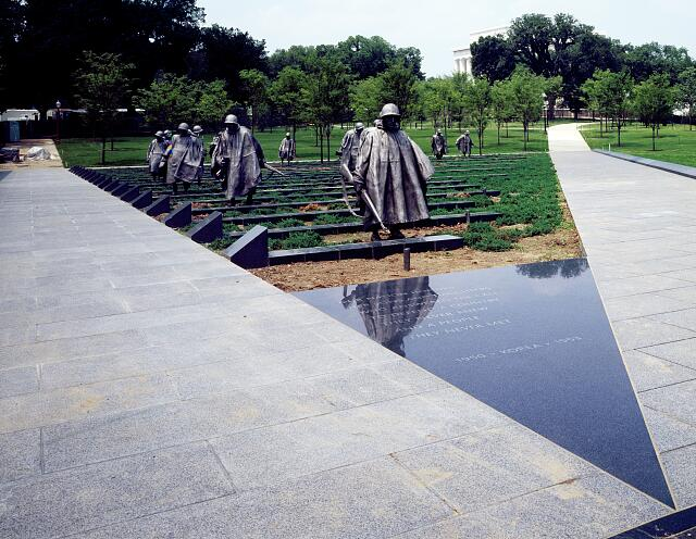 "Stainless-steel soldiers on ""patrol"" at the Korean War Veterans Memorial, Washington, D.C."