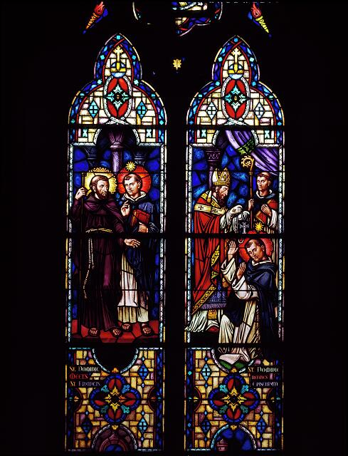 Stained glass windows in St. Dominic's Church in southwest Washington, D.C.