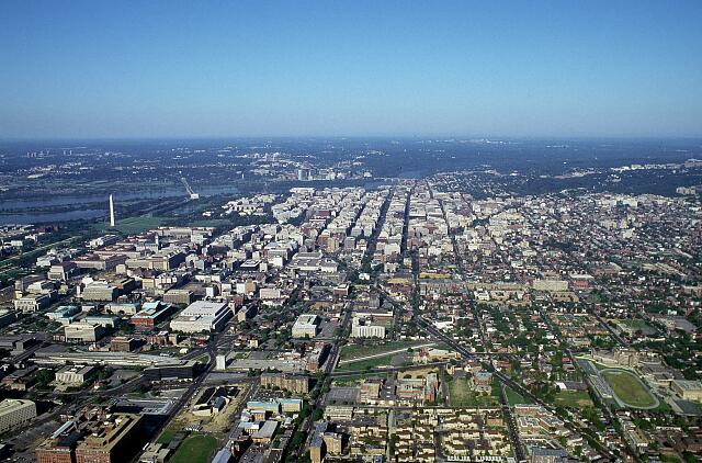 Aerial view of Washington, D.C.