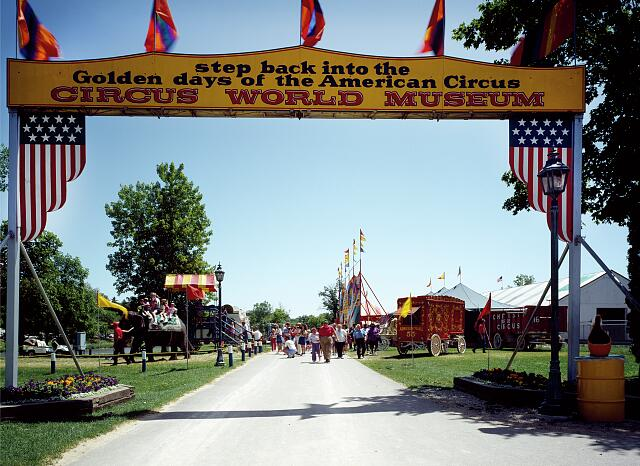 Entrance to Circus World in Baraboo, Wisconsin, where the five Ringling Brothers founded their show