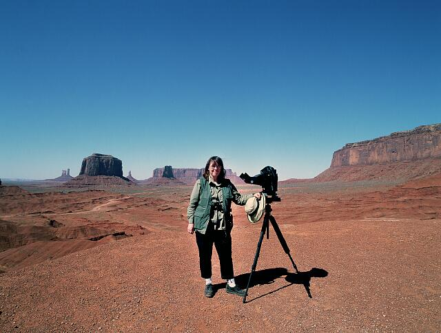 Photographer Carol M. Highsmith in Monument Valley, the Navajo tribal park in northern Arizona and southern Utah