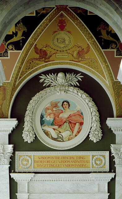 [Second Floor, North Corridor. Mural depicting Wisdom by Robert Reid. Library of Congress Thomas Jefferson Building, Washington, D.C.]