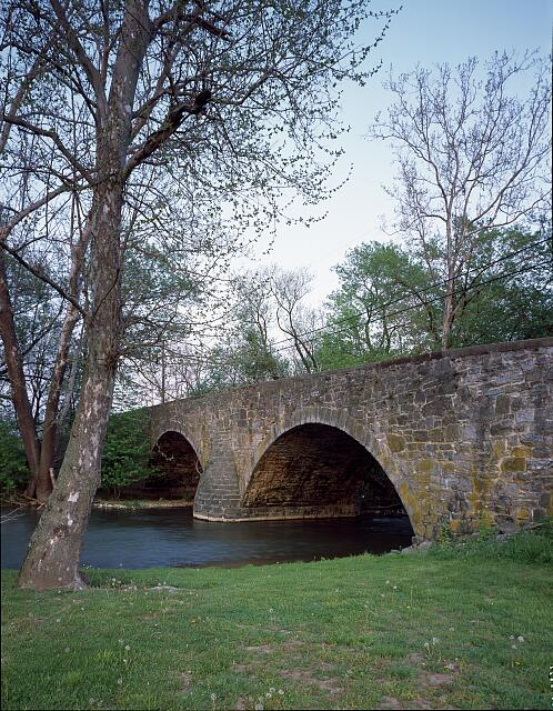 The 1863 Old Ford Road Bridge over Antietam Creek, Hagerstown, Maryland