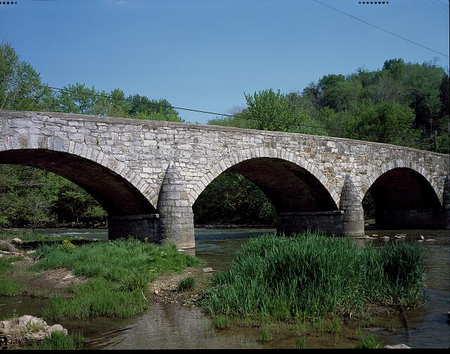 The 1832 Antietam Iron Works Bridge over Antietam Creek, Sharpsburg, Maryland