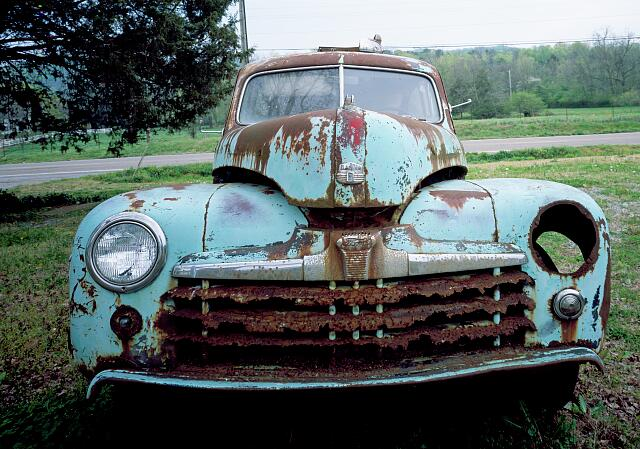 Jalopy that has seen better days