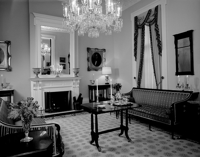 Parlor at the Texas Governor&#39;s Mansion, Austin, Texas