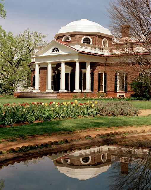 Monticello, Thomas Jefferson's home, Charlottesville, Virginia