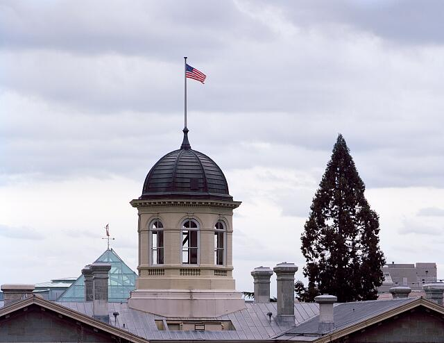 Cupola of the Pioneer Courthouse, a federal courthouse in Portland, Oregon