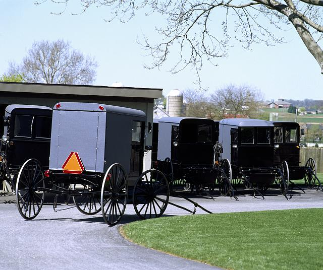 Amish buggies, Lancaster, Pennsylvania