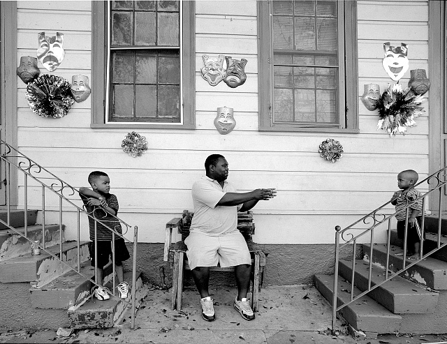 Grandmother and children, New Orleans, Louisiana
