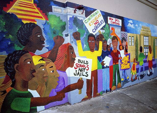 School mural in Oakland, California