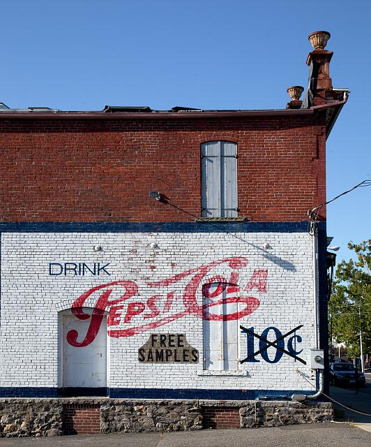 Pepsi sign, located at Meeker's Harware store in Danbury, Connecticut