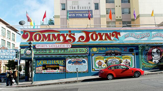 Tommy's Joynt, at Van Ness and Geary, on Route 101, San Francisco, California