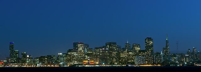 Skyline of San Francisco, California, from Treasure Island
