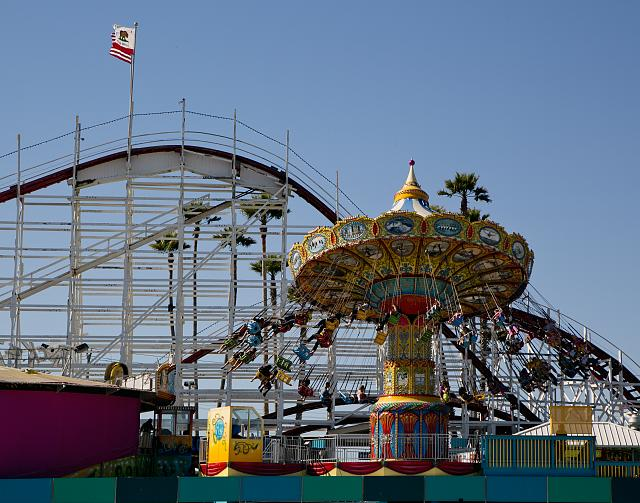 [Amusement park rides in Santa Cruz, the county seat and largest city of Santa Cruz County, California]