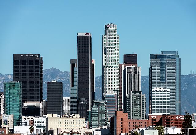 Skyline view of Los Angeles, California