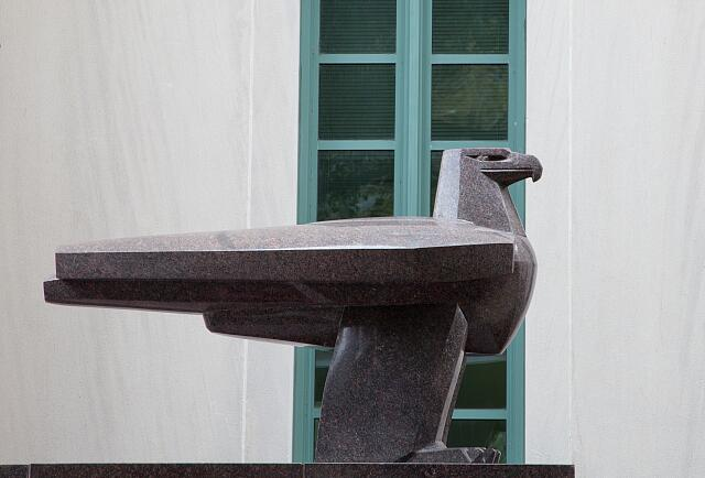 "Sculpture ""Eagle,"" by Gifford MacGregor Proctor at the F. Edward Herbert Federal Building in New Orleans, Louisiana"