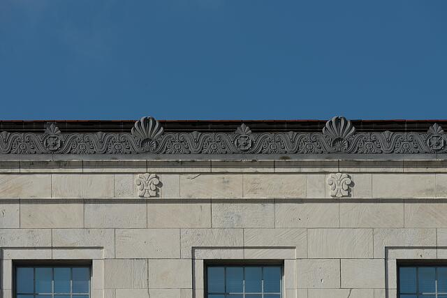 Architectural details. The Jack Brooks Federal Building in Beaumont, Texas
