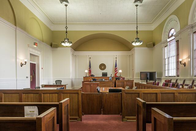 Courtroom. Lawton Federal Building and U.S. Courthouse, Lawton, Oklahoma