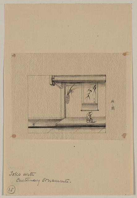 Toko [i.e., an alcove] with customary ornaments
