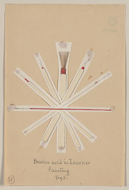 Brushes used in lacquer painting, fig. 5