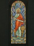 Design drawing for stained glass window for St. Mark's Episcopal Church in Washington, DC on Capitol Hill. Shows St. Mark with lion
