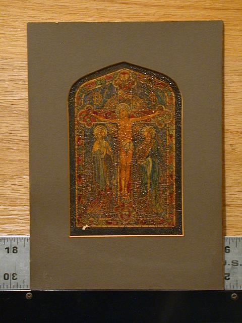 [Design drawing showing Crucifixion]