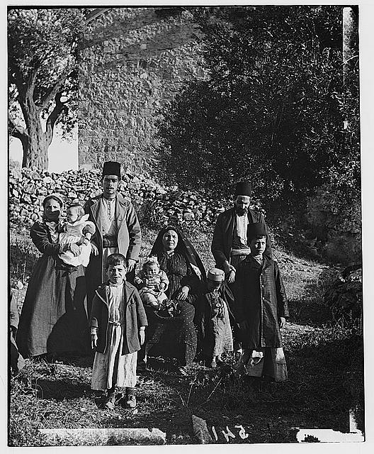 Costumes, characters, etc. Group of Ashkenazim Jews