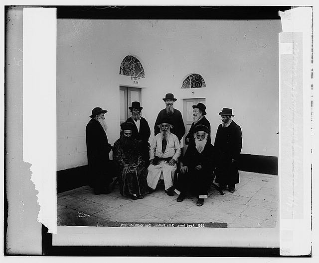 Costumes, characters, etc. Group of old Jewish men