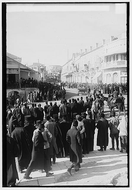 The surrender of Jerusalem to the British, December 9, 1917. British general arriving at Jaffa Gate