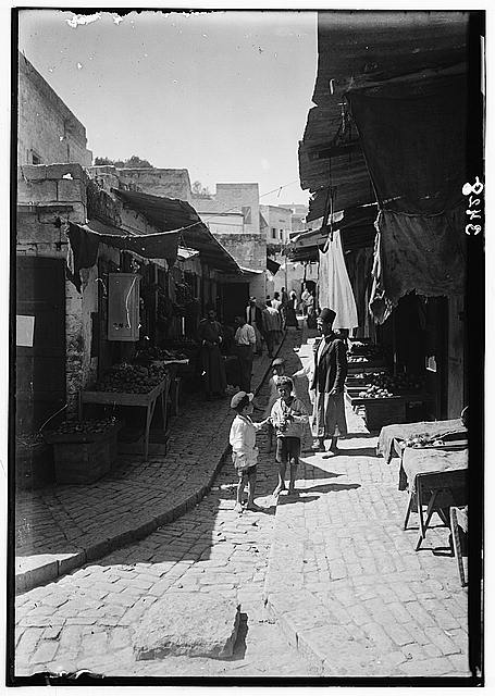 Northern views. Nazareth. The vegetable market