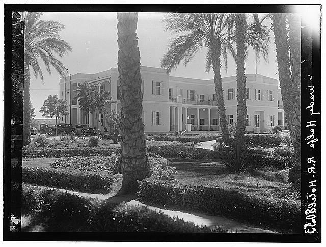 Sudan. Wadi Halfa. The R.R. Hotel from garden