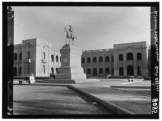Sudan. Khartoum. Government offices and equestrian statue of Kitchener