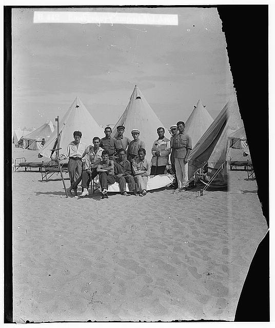 Jewish colonies and settlements. Tel Aviv. Emergency camp at Tel Aviv