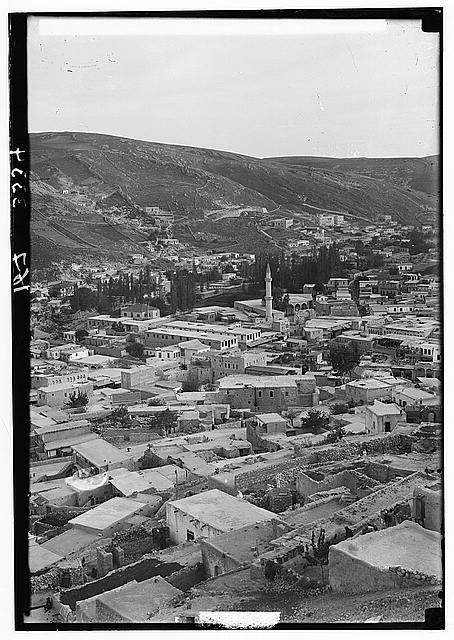 Trans-Jordan. Amman. The modern town and mosque
