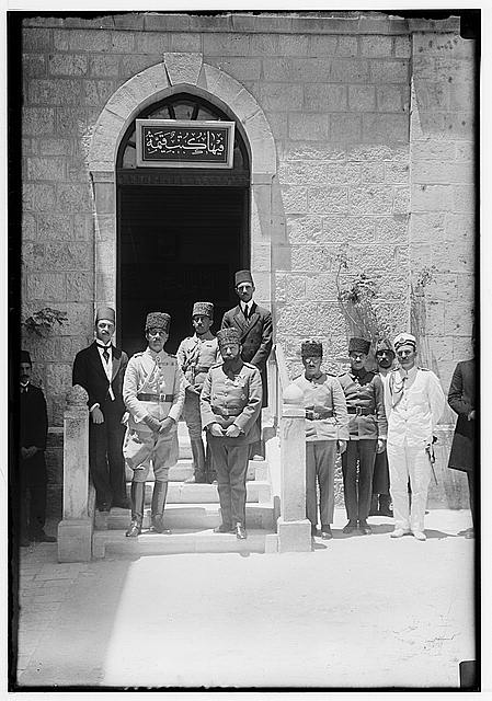 [Prince Osman Fuad and Jamal (Cemal) Pasha at the Salahiyeh School, Jerusalem]