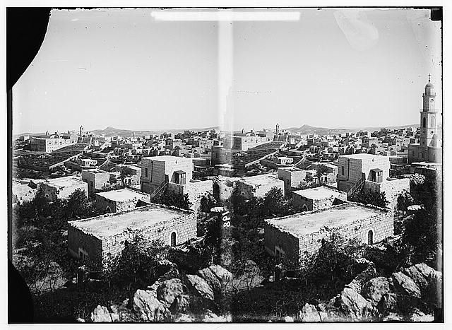 Bethlehem and surroundings. General view of Bethlehem.